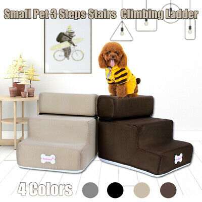 3 Step Portable Step Easy Dog Cat Pet Stairs Ramp Ladder Anti-slip Climbing