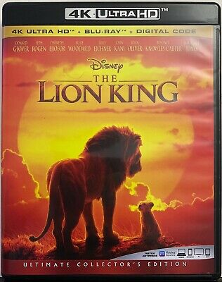 Disney The Lion King Live Action 4K Ultra Hd 1 Disc Only Free World Wide Shippin