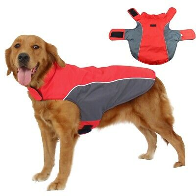 US Large Dog jacket padded Pet Clothes Warm waterproof Vest Winter Coat Outdoor