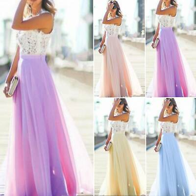 Women Lace Formal Dress Wedding Evening Ball Gown Party Cocktail Bridesmaid Prom