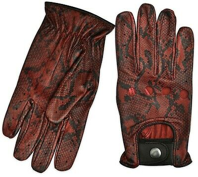 MENS SLIM FIT CHAUFFEUR LEATHER GLOVES DRIVING MILITARY TACTICAL BUS BIKE RIDING