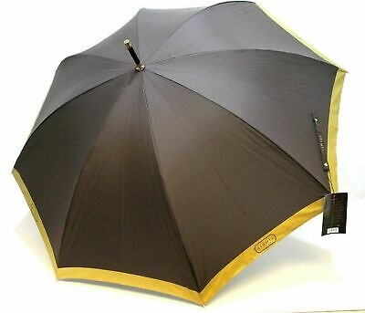 ARAMIS Classic Genuine Mens  Gold Edge Large Golf UMBRELLA New With Tags
