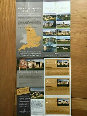 Treasure houses of England 2 for the price of 1 voucher x 1 (NOT Hatfield house)