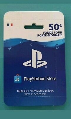 Carte psn playstation network 50 Euros