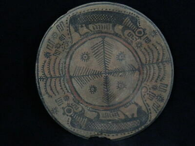 Ancient Large Size Teracota Painted Plate With Lions Indus Valley 2500 BC #PT137
