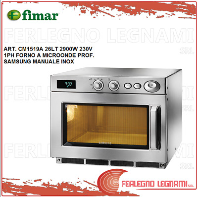 Microwave Oven Prof Samsung 26LT 2900W 1PH Manual Stainless Fimar CM1519A