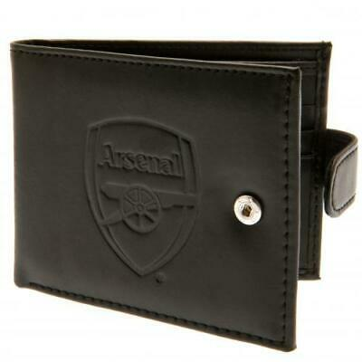 Official ARSENAL FC RFID Anti Fraud Leather WALLET Bi fold Gunners Gift
