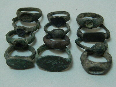 Ancient Bronze 12 Rings Islamic 1200 AD #GL1672