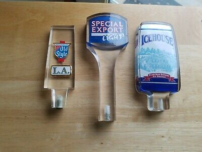 Vintage lot of 3 Beer  Taps Special export  Light ,Old style L.A . Icehouse.