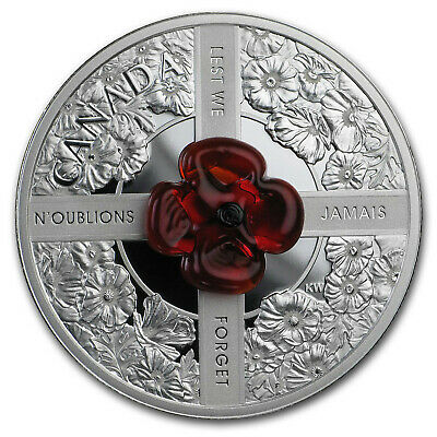 2019 Canada Silver $20 Lest We Forget - SKU#199506