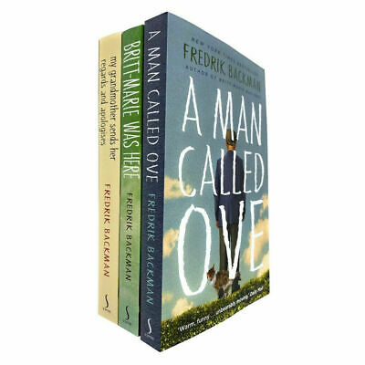 Fredrik Backman 3 Books Collection Set A Man Called Ove, Britt-Marie Was Here