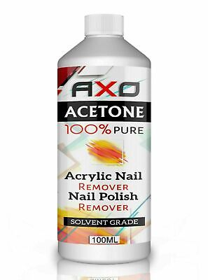 100% Pure Acetone Superior Quality Nail Polish Remover UV/LED GEL Soak Off UK