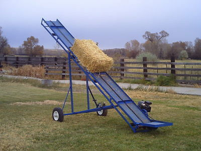 Plans to build a firewood or small bale (hay/straw) conveyor or elevator