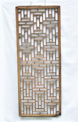 Large Antique Chinese Wooden Carved Panel, Screen Window Shutter