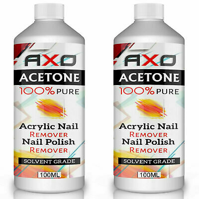 AXO Nail Remover Acetone Gel Nail Polish UV LED Twin Duo (Pack of 2) 100ml