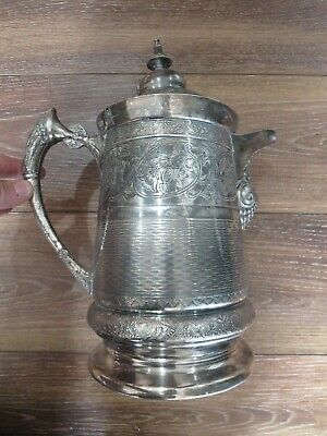 "Middletown Plate Co. quadruple plate silver? ""hard white metal"" #122 13"" pitcher"