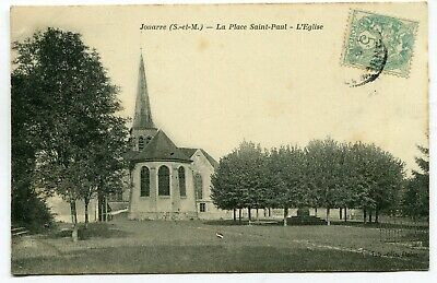 CPA - Carte Postale - France - Jouarre - La Place Saint Paul - L'Eglise - 1906 (