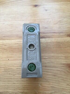 Mem Memcert 45 Amp Fuse Holder Carrier HRC Green Spot 250V 40