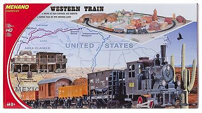MEHANO T109 –WESTERN TRAIN WITH LAYOUT SET TRENINO ELETTRICO IN SCALA H0 (dh2)