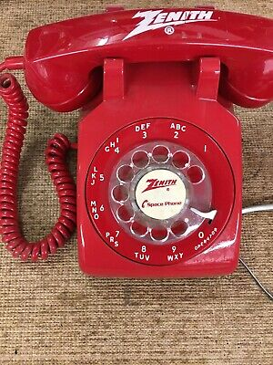 Vintage Rotary Dial RED Telephone Telephone Stromberg-Carlson Zenith Space Phone