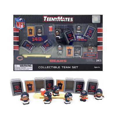 NFL TeenyMates Team Set Chicago Bears 14 Piece Set 2019 New Release.