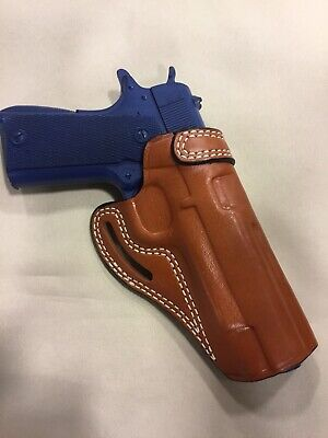 """Leather CROSS DRAW Holster - KIMBER / COLT 1911 Government 5"""" - (# 7711 BRN )"""