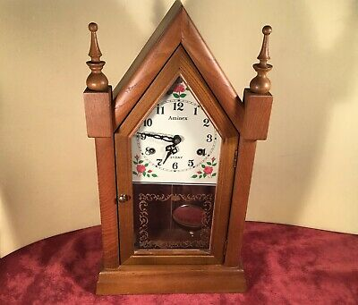 31 Day  Mantel Parlor Shelf Steeple Clock Works well with chime