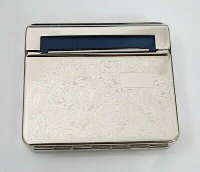 Automatic Rolling Machine Cloth Blind Strong Metal Cigarette Silver Cig Tin