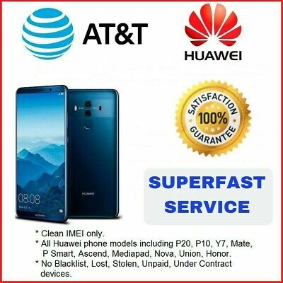 Factory Unlock Service At&T Code Huawei For All Models