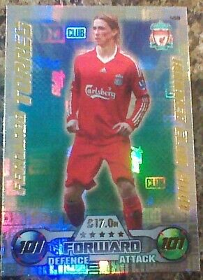 Match Attax Attack 2016/17 458 Fernando Torres Legend Hundred 101 100 Club Mint