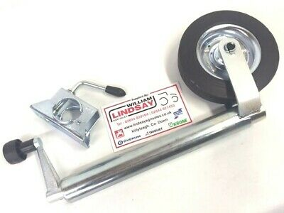 Trailer Caravan Jockey Wheel Unit c/w Clamp Kit 48mm Plain Tube Jockey Wheel