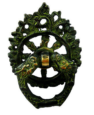 Floral Design Vintage Antique Finish Handmade Brass Door Knocker Pull Home Decor