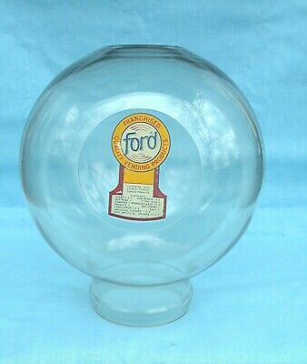 New Old Stock Ford Gumball Machine Plastic Replacement Globe with Decal