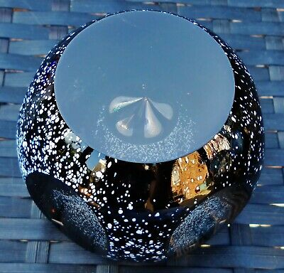 """Caithness Glass """"Golden Haven"""" Faceted Paperweight Ltd Ed"""
