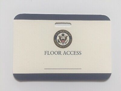 United States House of Representatives VIP Floor Access Credential Pass Ticket