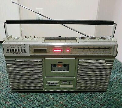 Vintage Tensai RCR-343 Boombox Ghetto Blaster (Fully-functional New-Belts RARE)