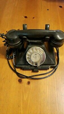 Pyramid Bakelite Telephone Rotary Dial Art Deco 232 With Tray Vintage Untested