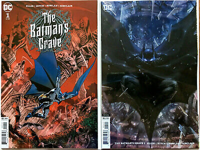 Batmans Grave #1 Bryan Hitch + Jee-Hyung Lee Card Stock Variant (Set of 2)  NM