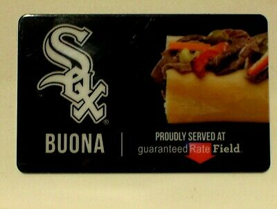 NEW Unused Chicago White Sox Baseball,Buona Beef GIFT CARD,No Cash Value
