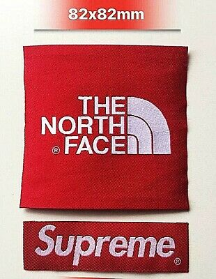 The North Face X Supreme Black Arm Patch TNF Sew On/Glue On For Jacket