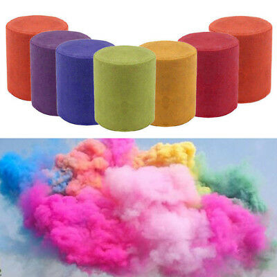 5 Pcs Colorful Round Smoke Cake Bomb Photography Stage Aid Effect Show Magic Toy