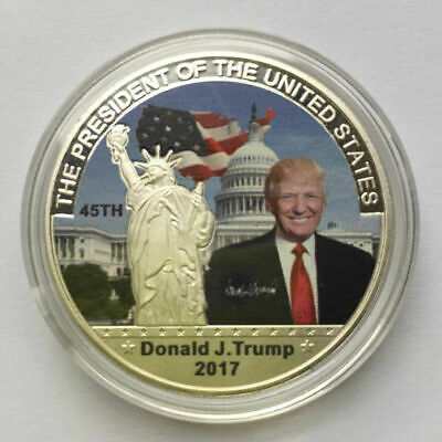 Donald Trump Silver Eagle Coin Make America GREAT Again 45th America President