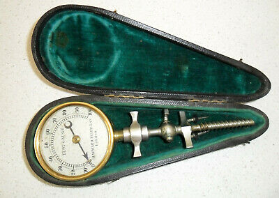 VINTAGE CASED CHAMPAGNE TEST GUAGE BY HAYWOOD TYLER & Co, LONDON