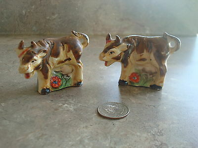 Vintage Brown & White Cow - Salt and Pepper Shakers - Japan