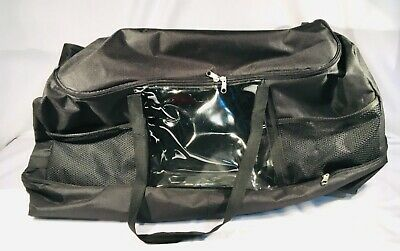 "24""Duffel Bag With Wheels Travel Rolling Luggage Trunk Carry Black NEW"