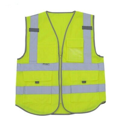 Men Reflective Safety Vest Working Construction Building Site Protect Waistcoat