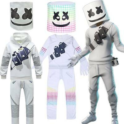 Kids Boys Girls Christmas Party Marshmallow Cosplay Costume Party Fancy Dress AU