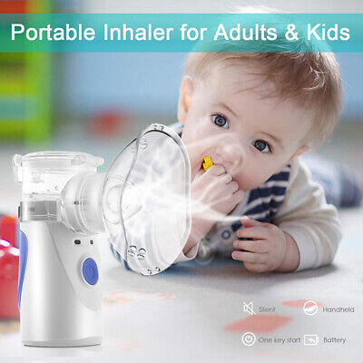 US Compact Portable Nebulizer Battery Operated For Child Adult Travel Carry Bag