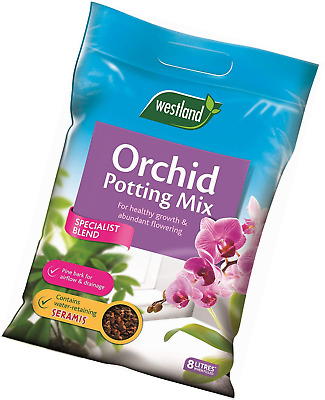 Westland Orchid Potting Compost Mix and Enriched with Seramis, 8 L