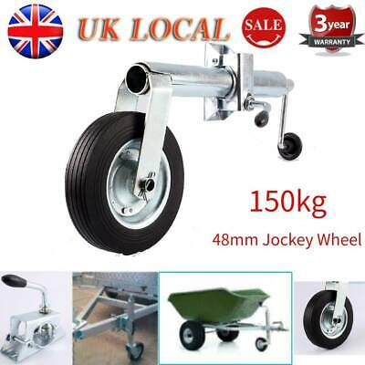 Heavy Duty Trailer Jockey Wheel 48mm 150kg Shaft Tyre for Trailers and Caravans